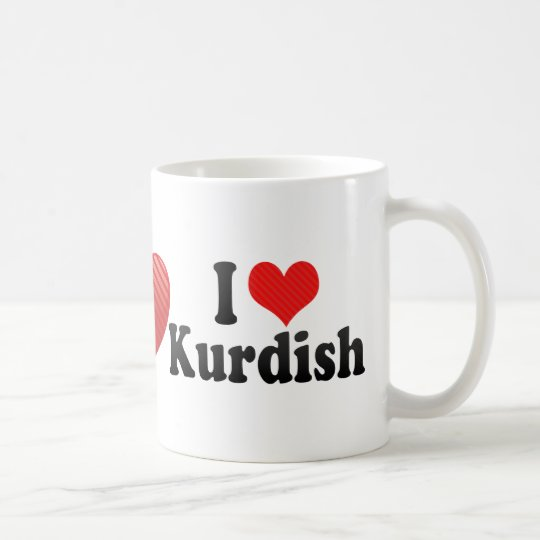 I Love Kurdish Coffee Mug