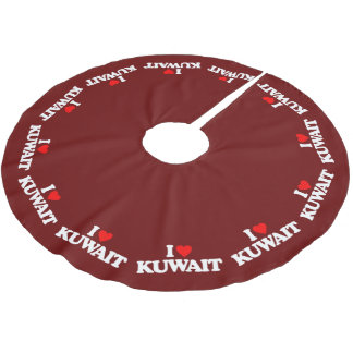 I LOVE KUWAIT BRUSHED POLYESTER TREE SKIRT