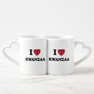 I Love Kwanzaa Couple Mugs