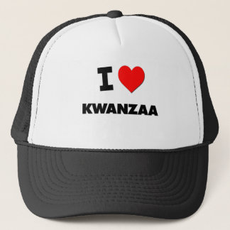 I Love Kwanzaa Trucker Hat