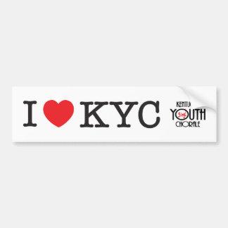 I Love KYC Bumper Sticker