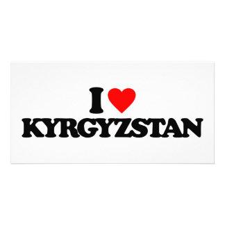 I LOVE KYRGYZSTAN CUSTOM PHOTO CARD