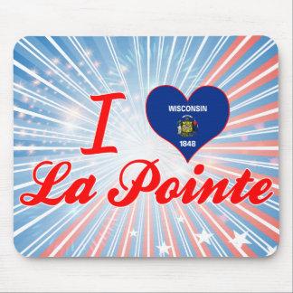 I Love La Pointe, Wisconsin Mouse Pad