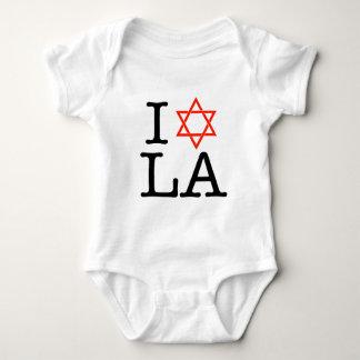I Love LA ( Star of David ) Baby Bodysuit