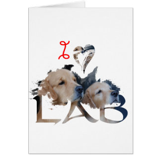 I love Lab Card