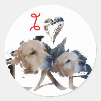 I love Lab Classic Round Sticker