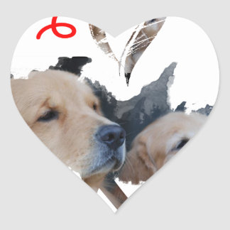 I love Lab Heart Sticker