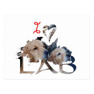 I love Lab Postcard