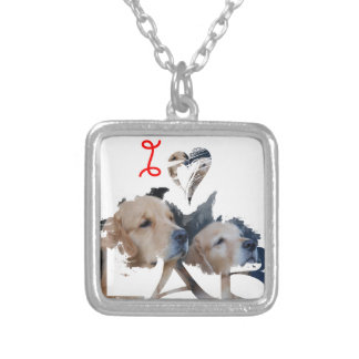 I love Lab Silver Plated Necklace