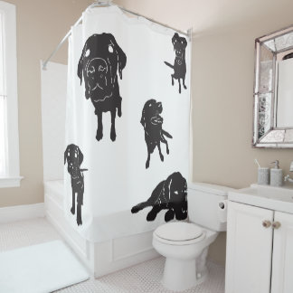 I Love Labs Shower Curtain