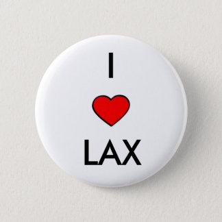 i love lacrosse 2 inch round button
