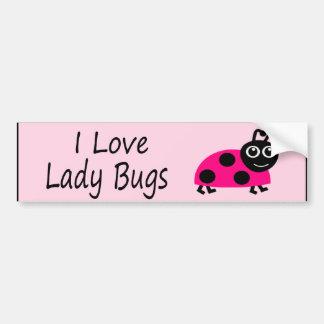 I Love Ladybugs Cute Ladybug Bumper Sticker
