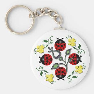 I Love Ladybugs Keychain