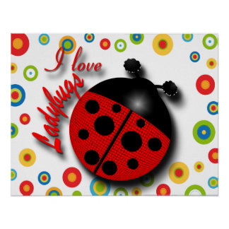 I Love Ladybugs Posters