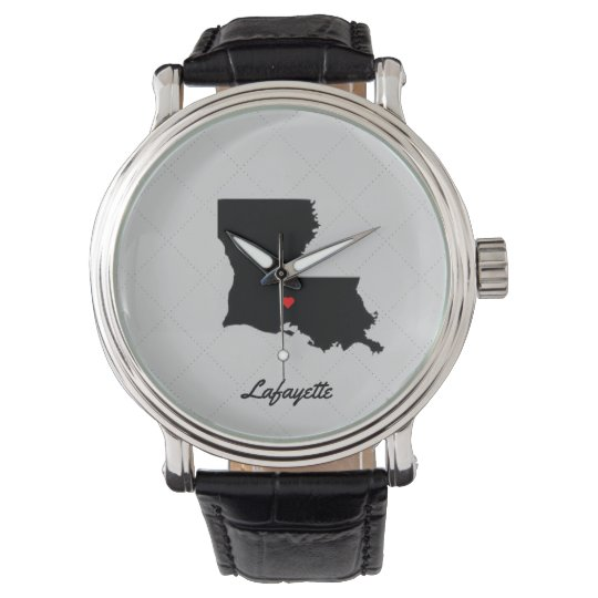 I Love Lafayette Louisiana Watch