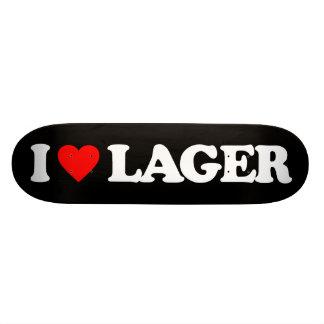 I LOVE LAGER SKATE DECK