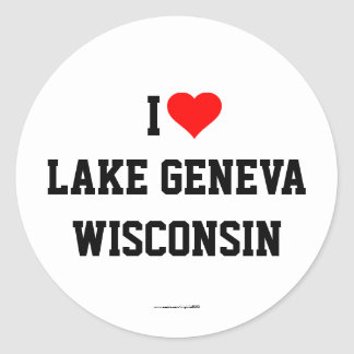 I Love Lake Geneva, Wisconsin stickers