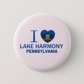 I Love Lake Harmony, PA 2 Inch Round Button