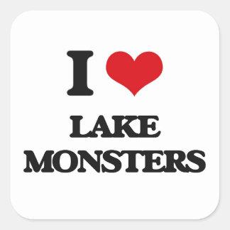 I love lake monsters square sticker