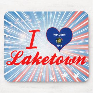 I Love Laketown, Wisconsin Mousepads