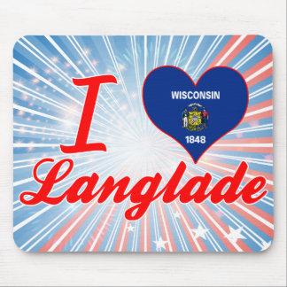I Love Langlade, Wisconsin Mousepad