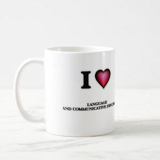 I Love Language And Communicative Disorders Coffee Mug