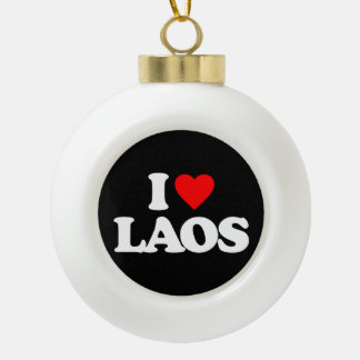 I LOVE LAOS ORNAMENT