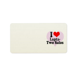 I love Lapta- Two Salos Personalized Address Label