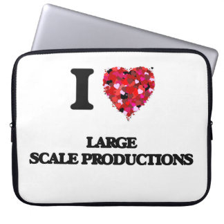 I Love Large Scale Productions Laptop Sleeve