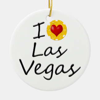 I Love Las Vegas Ceramic Ornament