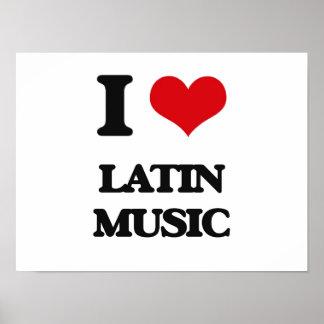 I Love LATIN MUSIC Print