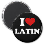 I Love Latin Refrigerator Magnet
