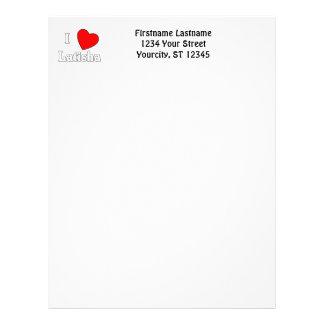 I Love Latisha Customized Letterhead