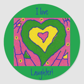I Love Laughter! Classic Round Sticker