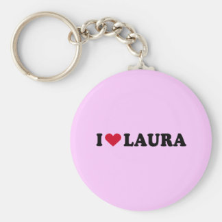 I LOVE LAURA KEYCHAIN