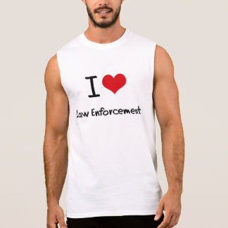 I love Law Enforcement Sleeveless Shirt