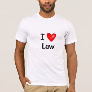 I Love Law I Heart Law T-Shirt