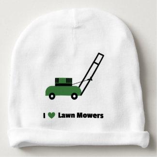 I love Lawn Mowers Baby Beanie