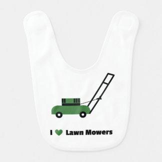 I love Lawn Mowers Bib