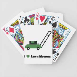 I love Lawn Mowers Bicycle Playing Cards