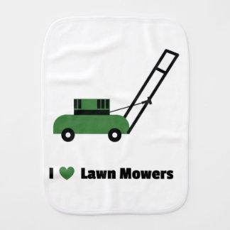 I love Lawn Mowers Burp Cloth