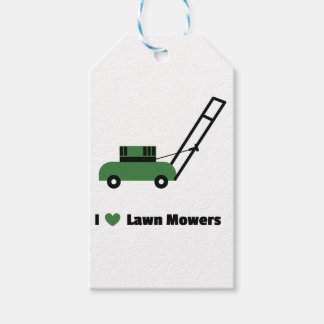 I love Lawn Mowers Gift Tags