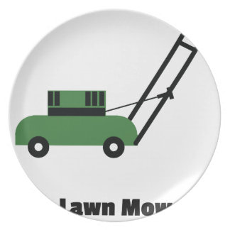 I love Lawn Mowers Plate