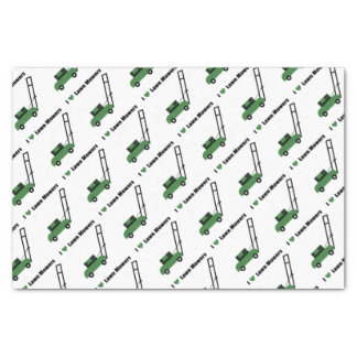 I love Lawn Mowers Tissue Paper