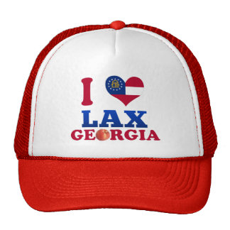 I Love Lax Georgia Mesh Hat