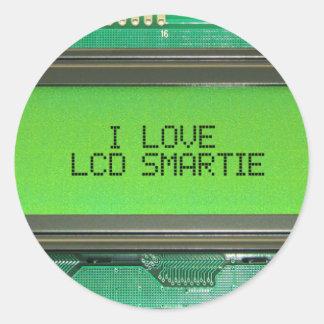 I love LCD smartie Round Sticker