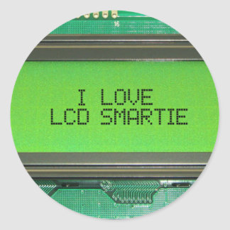 I love LCD smartie Classic Round Sticker