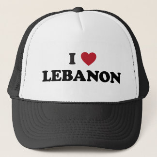 I Love Lebanon Trucker Hat