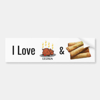 I Love Lechon & Lumpia Stickers