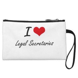 I love Legal Secretaries Wristlet Clutch